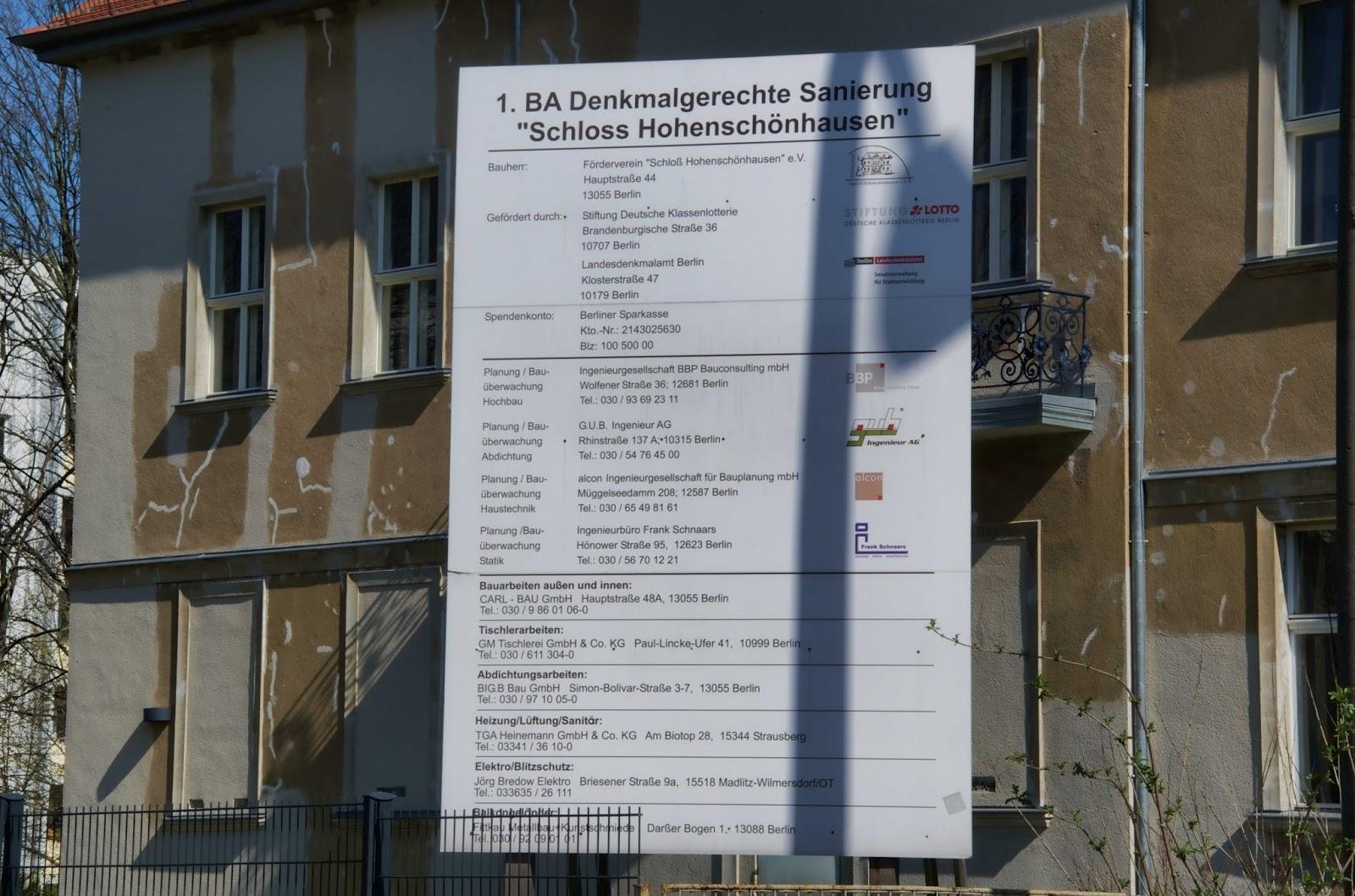 """Baustelle 1. Bauabschnitt Denkmalgerechte Sanierung """"Schloss Hohenschönhausen"""", Hauptstraße 44, 13055 Berlin, 17.03.2014"""
