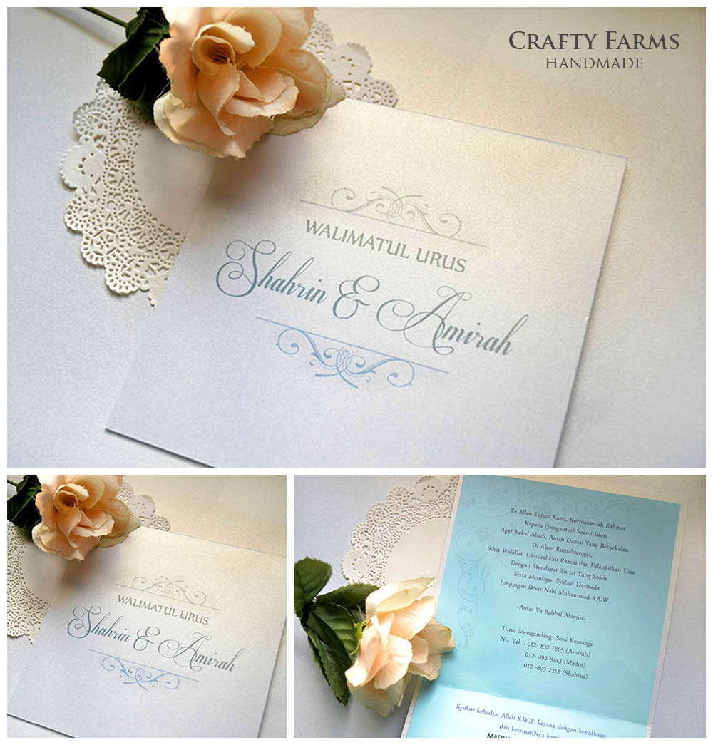 Wedding Card Malaysia | Crafty Farms Handmade : Simple Monogram ...