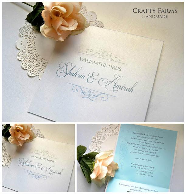 Simple Monogram Malay Handmade Wedding Invitation Card Walimatul Urus Kad Kahwin Melayu