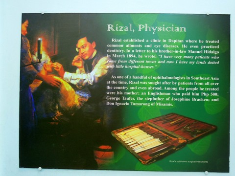 rizal as a physician During his exile in dapitan, rizal had a long and scholarly debate with father pastells on religion which as physician in dapitan rizal practiced medicine in.
