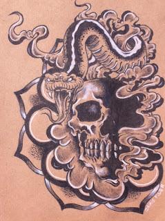 Tattoo, cincinnati art, cincinnati, girl head, girlhead tattoo, snake tattoo