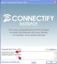 Connectify Hotspot PRO 5.0.1.27651