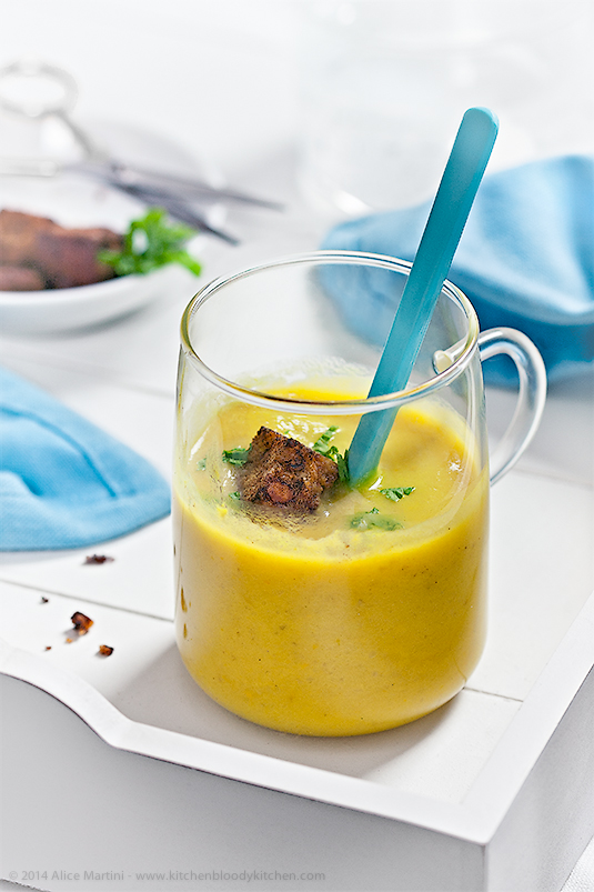 Crema di peperoni gialli e topinambur