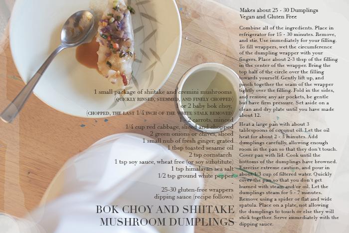 Bok Choy and Shiitake Mushroom Dumplings