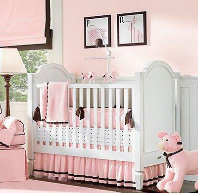 Dormitorio para bebes en rosado dormitorio infantil - Habitacion de nina bebe ...
