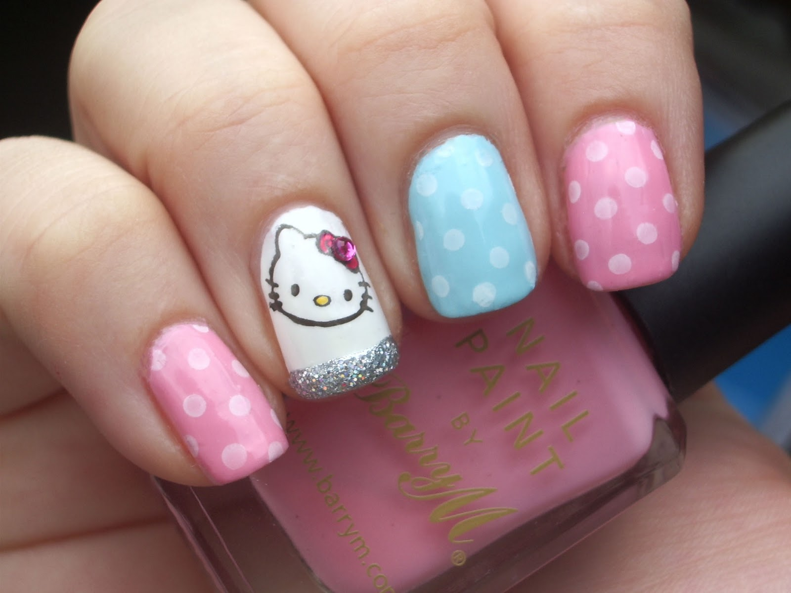 Pictures of hello kitty nail designs anna charlotta the appealing pictures of hello kitty nail designs images prinsesfo Images