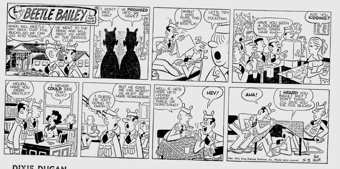 sexy-beetle-bailey-first-comic-strip-photos-commercial