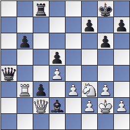 Partida de ajedrez Korchnoi vs. Kasparian (posición después de 38. Cf3)