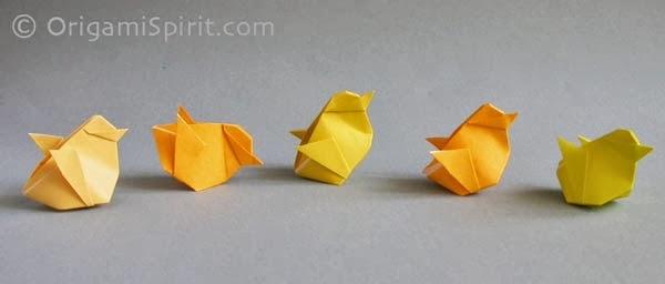 Плоское оригами бумаги