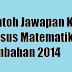 Contoh Sampel Jawapan Kerja Kursus Matematik Tambahan 2014