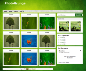 Photo Grunge Gallery blogger template