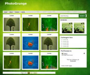 Photo Grunge Gallery blogger template