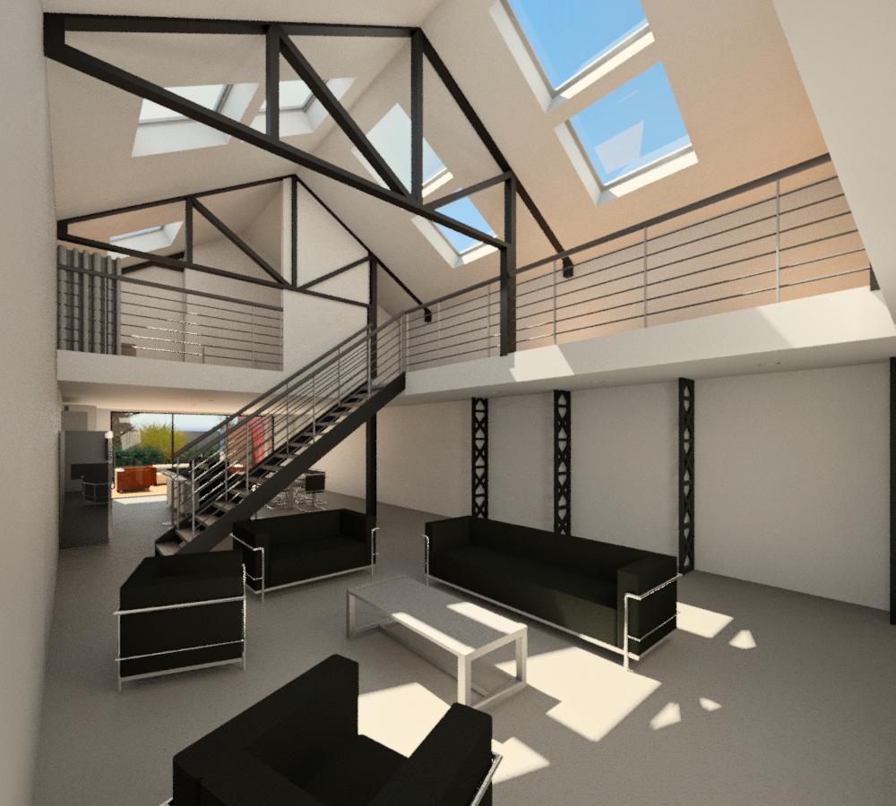 jacques lenain architecte lille transformation d 39 un garage en loft a la madeleine. Black Bedroom Furniture Sets. Home Design Ideas