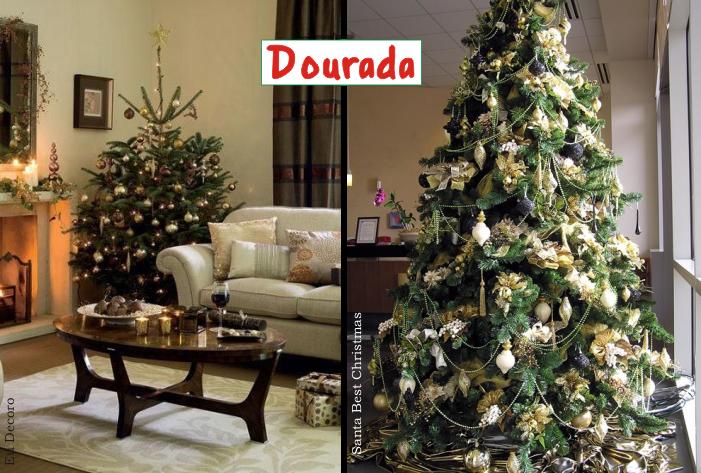 decoracao arvore de natal vermelha e dourada:Especial de Natal – Como decorar uma árvore de Natal – ParteII