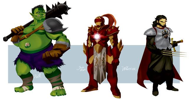 medieval avengers por tovio911