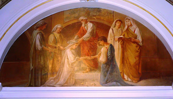 A painting of Catholic Wedding
