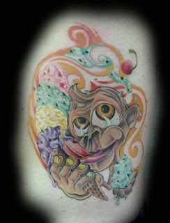 Cartoon Monkey Tattoos