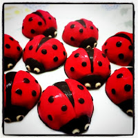 COLOURED PRA LINE LADYBIRD CHOCOLATE