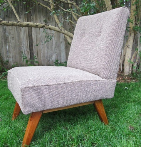 Mid Century Slipper Chair MINT CONDITION   New Upholstery SOLD