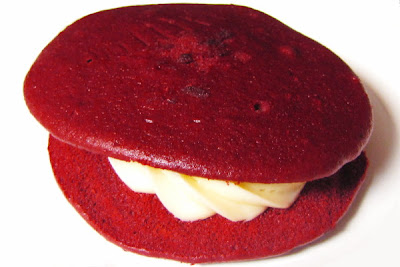 Red velvet whoopie pie from Bova's Bakery in Boston, MA
