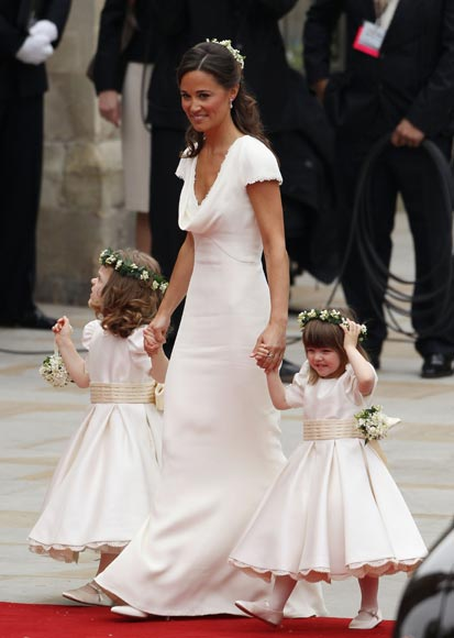 The royal order of sartorial splendor the duke duchess for Wedding dress like pippa middleton