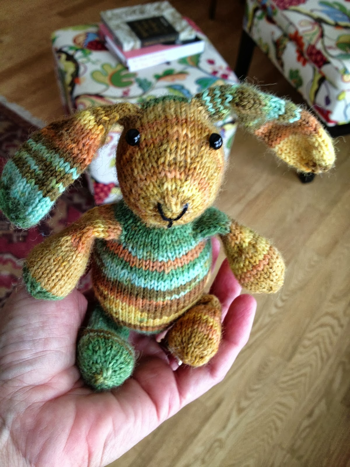 Susan B. Anderson: Mini-Sock Yarn Bunny ~ Pattern Now Available!