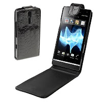 High Quality Crocodile Texture Leather Case Untuk Sony Xperia S LT26i Sony Ericsson Xperia Arc HD