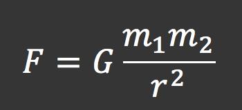 F=(G*m_1*m_2)/r^2