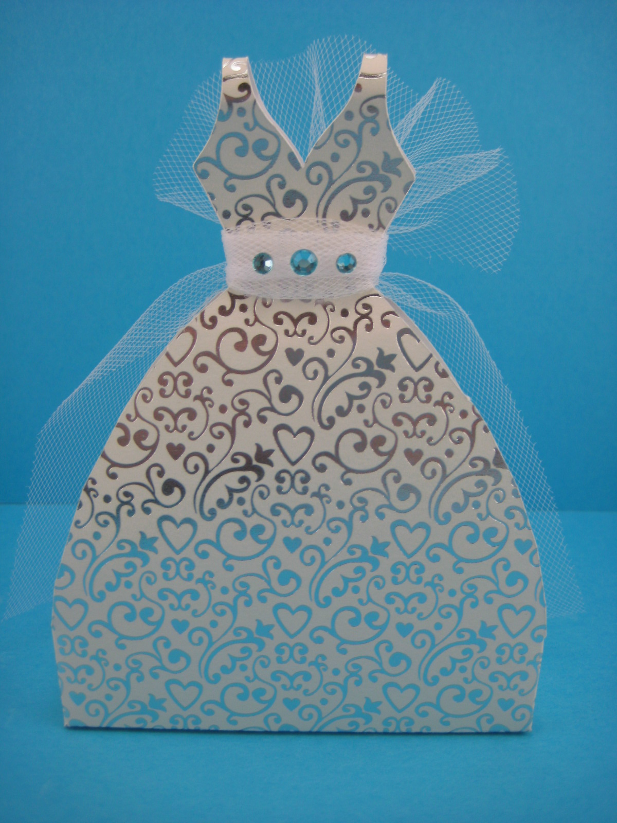 My imagitivity my cricut craft room 3d wedding dress box for Boxes for wedding dresses