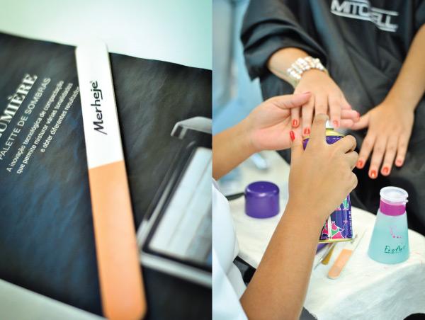 manicure - fazendo unha - passando esmalte - lixa polidora Merheje