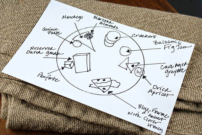 Idea share your sketch with your guests during the cheese course so they could refer to it while enjoying the different cheeses and combinations of ... & Authentic Suburban Gourmet: Entertaining Tips | Inidual Cheese Plates
