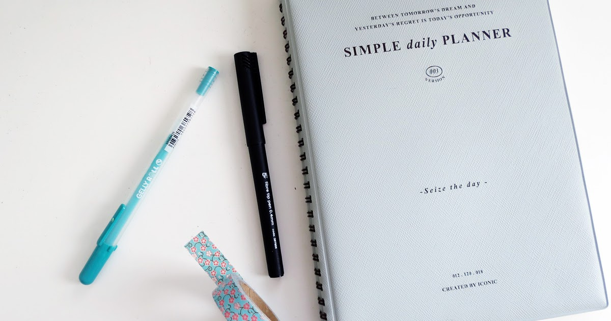 Simple Daily Planner: How I organise my time | The Guilty Girl