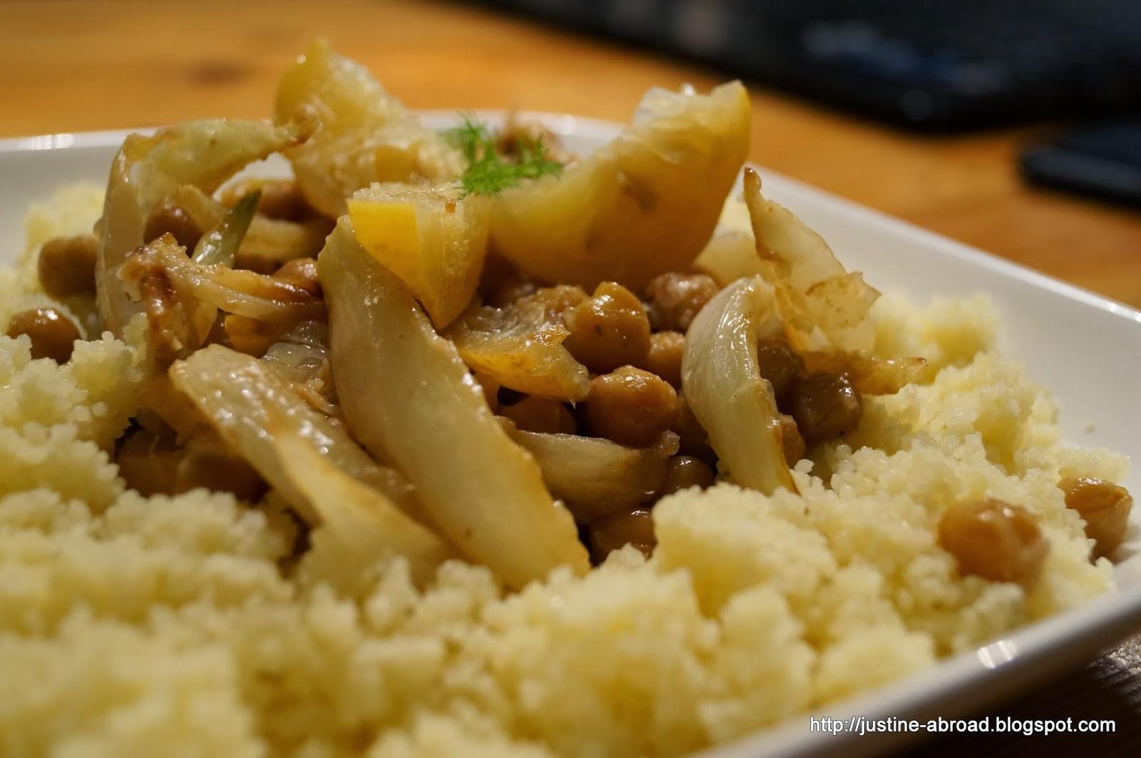 kuchnia maghrebu, danie z kuskusu