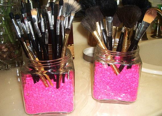 Makeup holder diy