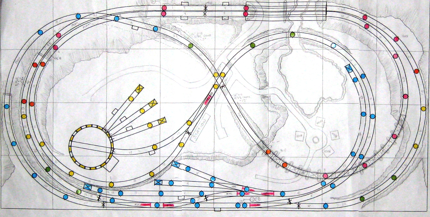 Tys Model Railroad Design Planning Signal Wiring Diagram Initial Track Plan Built With Atlas Right Software