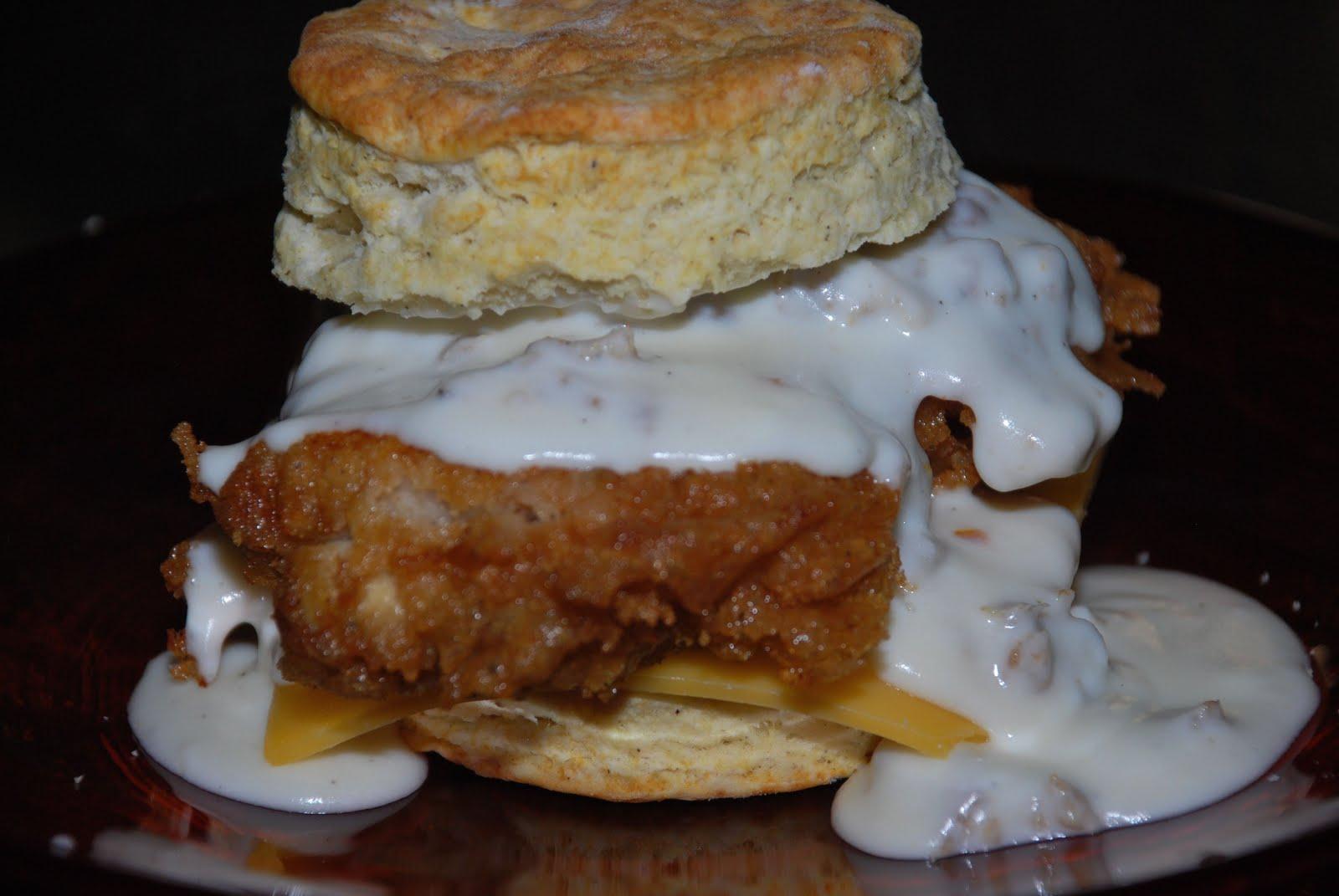 Chicken Biscuits with Sausage Gravy