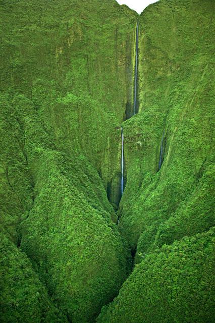 Honokohau Falls, Maui, hawaii, west maui mountains, tallest waterfall