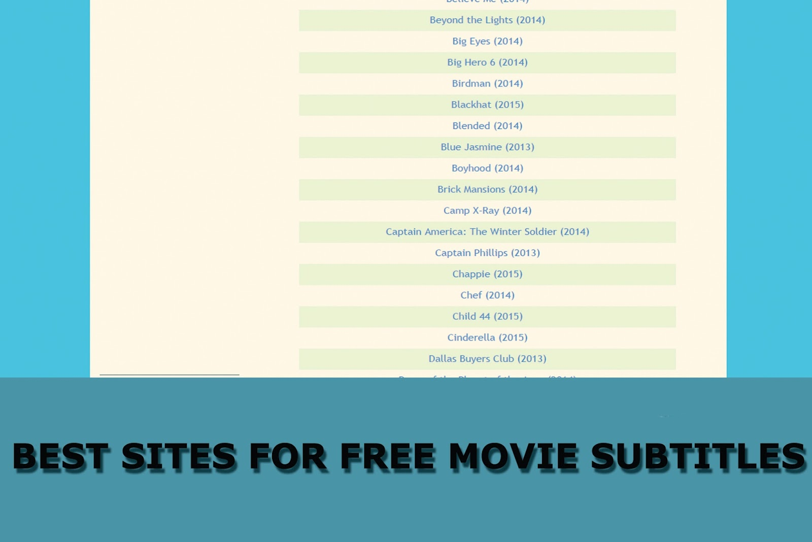 7 TOP Best Sites For Free Movie Subtitles | Movie