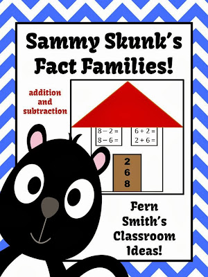 Picture of Fern Smith's Addition and Subtraction Fact Families Center Game and Interactive Notebook Activity!