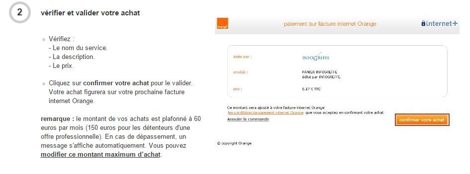 service internet plus orange active par defaut retrait sur facture