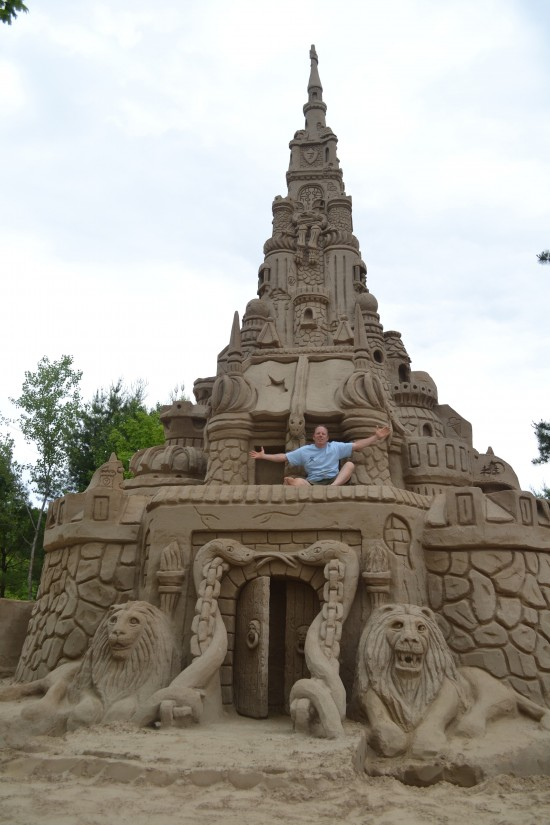 In 2003, Ed Jarrett first built the world's tallest sand castle, ...