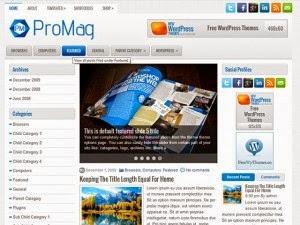 ProMAg - Free Wordpress Theme