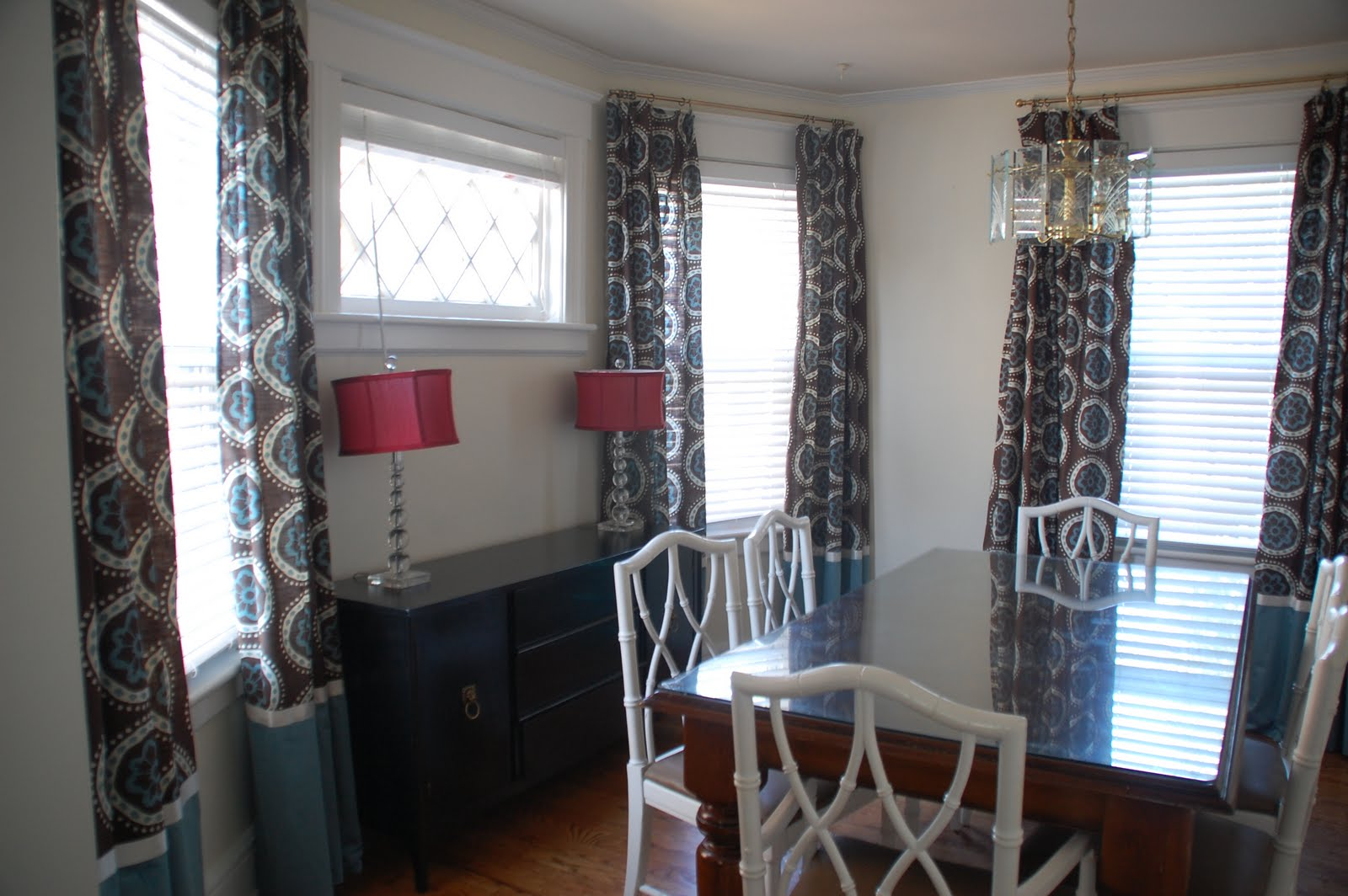 North Jersey Dining Room Curtains Made From Target Shower Curtains ...