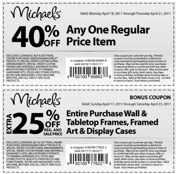 we highly encourage you to update your browser to the latest version of internet explorer or use - Michaels Frames Coupons
