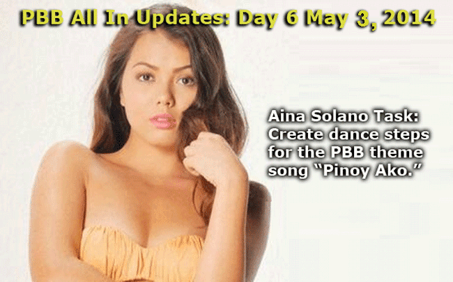 PBB All In Updates: Day 6 May 3, 2014 Aina Solano Task