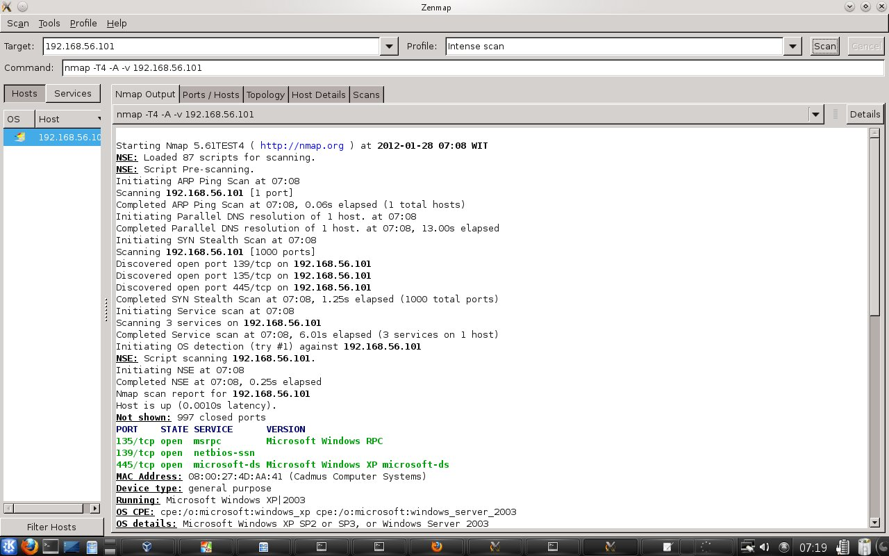 Windows command prompt nmap - Starting Nmap 5 61test4 Http Nmap Org At 2012 01 28 07 08 Wit Nse Loaded 87 Scripts For Scanning Nse Script Pre Scanning