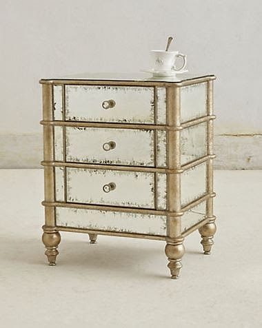 Anthropologie Mirrored Nightstand