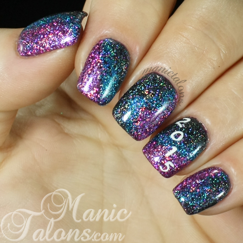 glittery new years manicure 2015