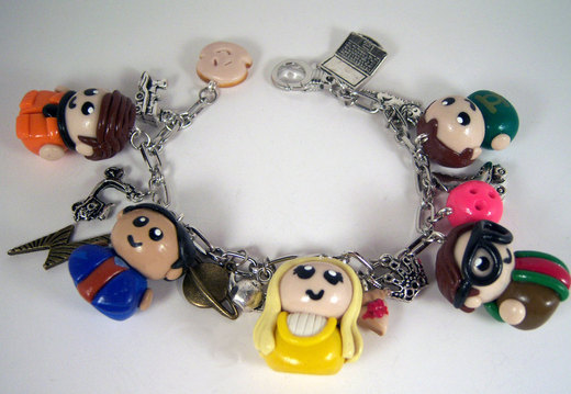 Big Bang Theory Charm Bracelet por sweet-geek