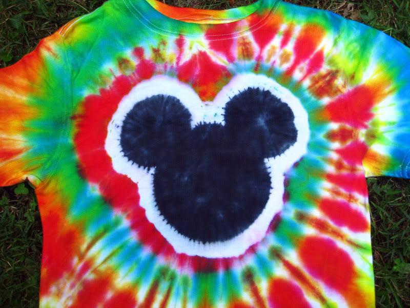 Hippies Child Teach Yourself Tie Dye Mickey Head